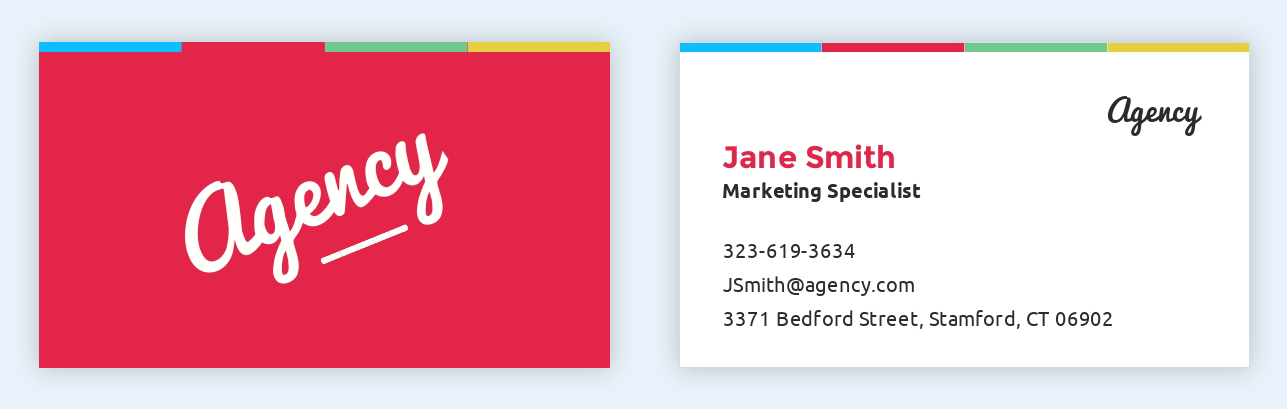 How to make a business card even if you dont have design skills edit this template wajeb Images
