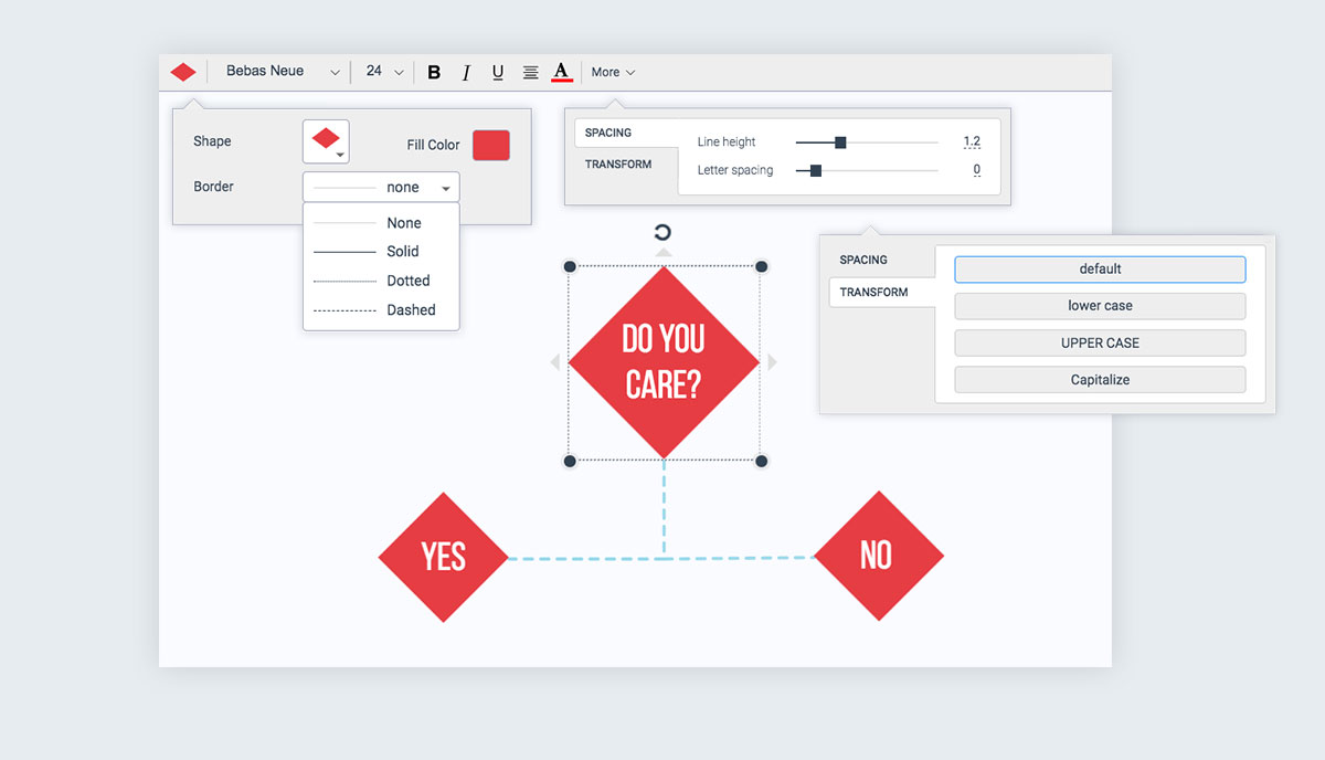 How to Make a Flowchart with Visme fully customize the look