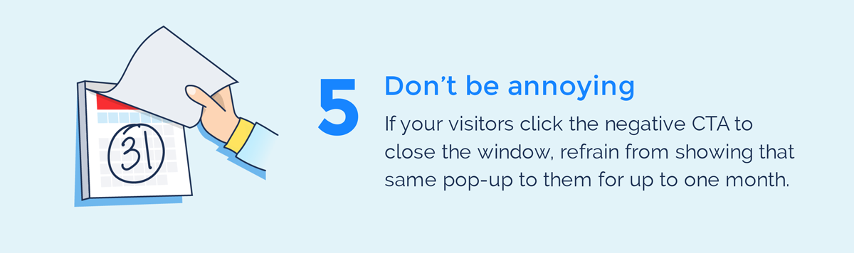 visual guide to exit intent popups don't be annoying