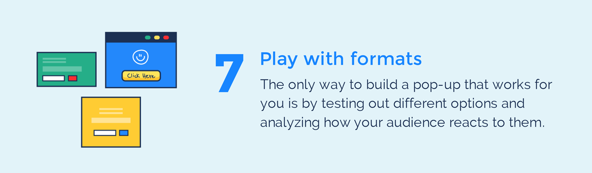 visual guide to exit intent popups play with formats