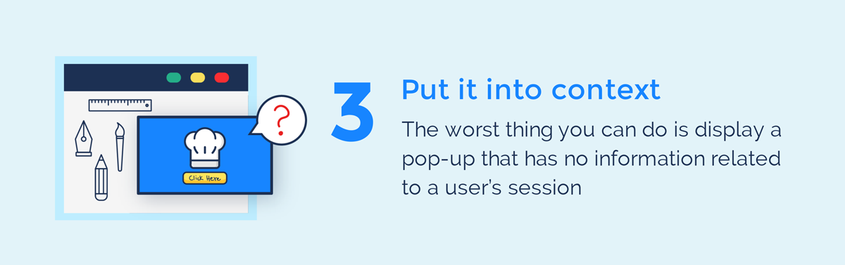visual guide to exit intent popups put it into context