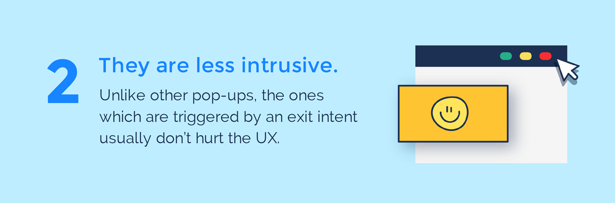visual guide to exit intent popups they are less intrusive