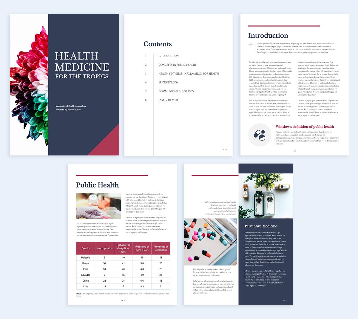 How-to-make-an-Ebook-template-health medicine
