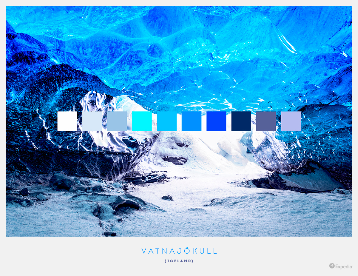 Iceland color palettes from beautiful landscapes