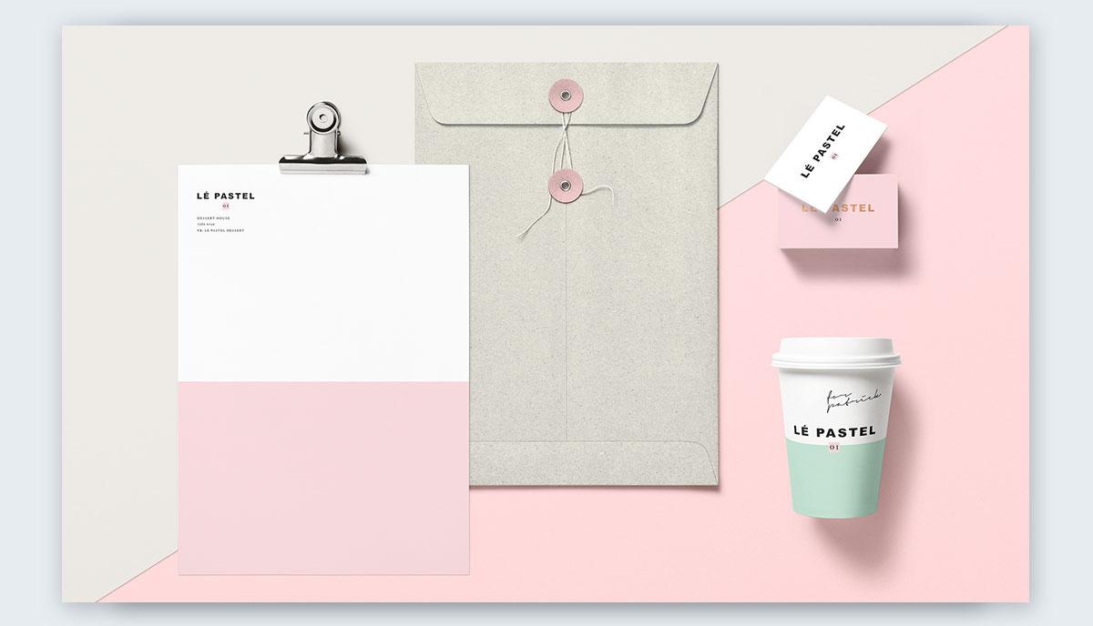 Le-Pastel-Branding-Scheme-by-Claudia-Argueta pastel colors