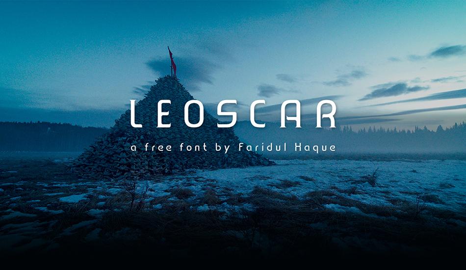 Leoscar free modern fonts