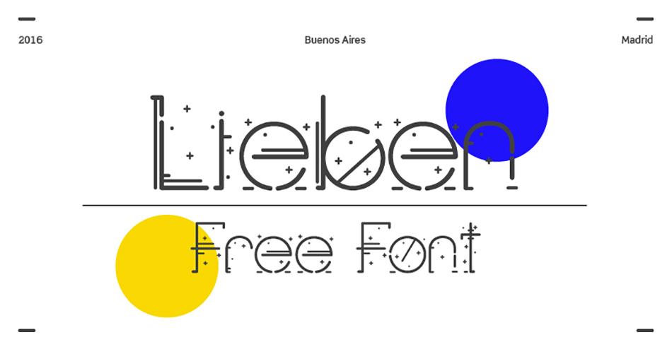 Lieben free modern fonts