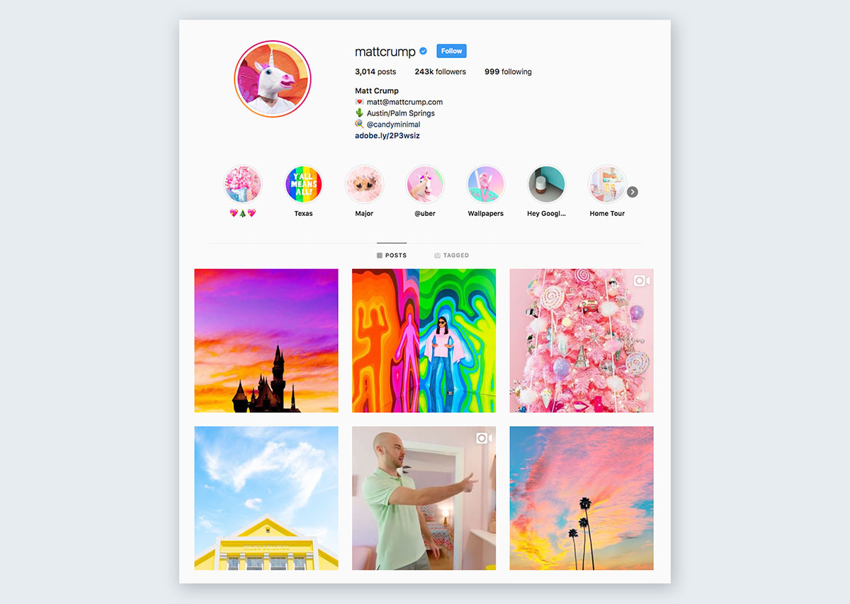 Matt-Crump-on-Instagram pastel colors