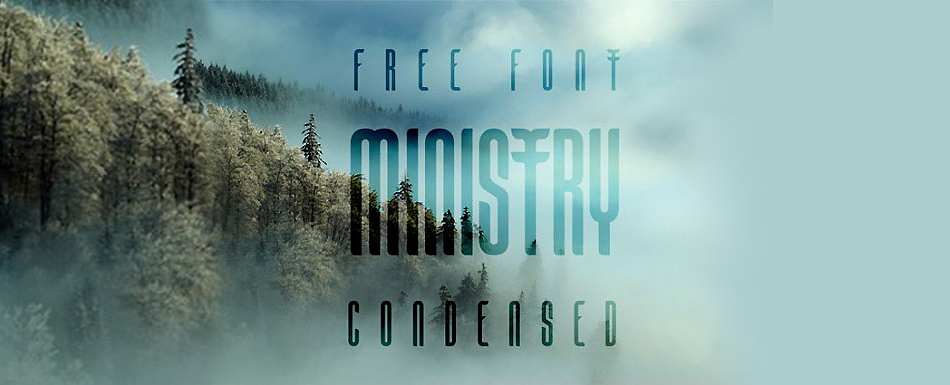 Ministry free modern fonts