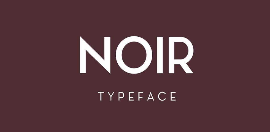 Noir free modern fonts