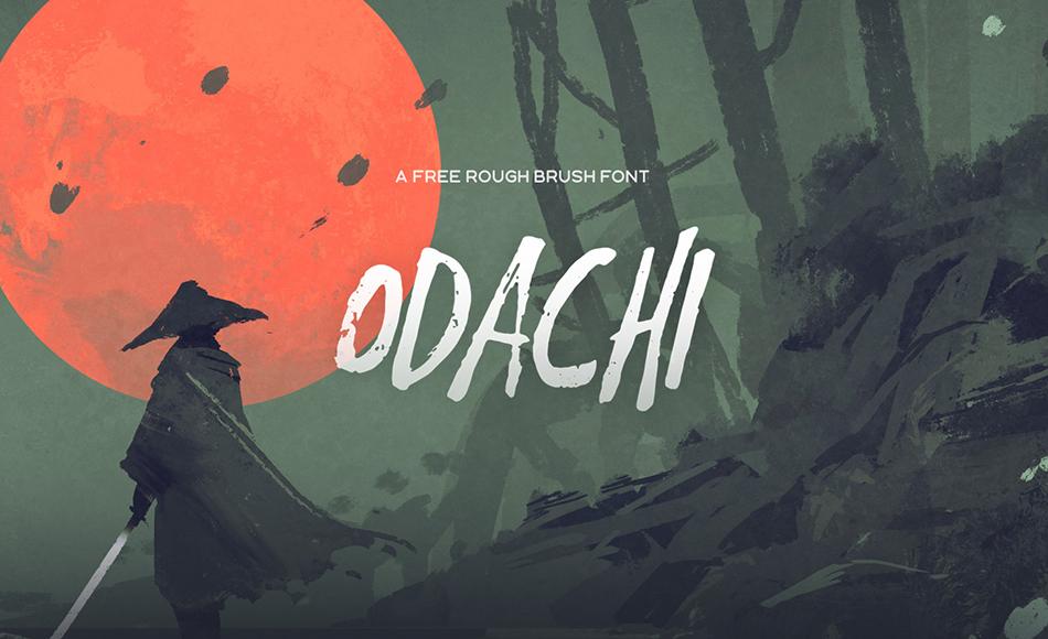 Odachi free modern fonts