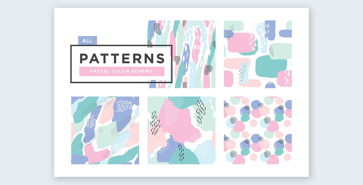 Pastel-patterns pastel colors