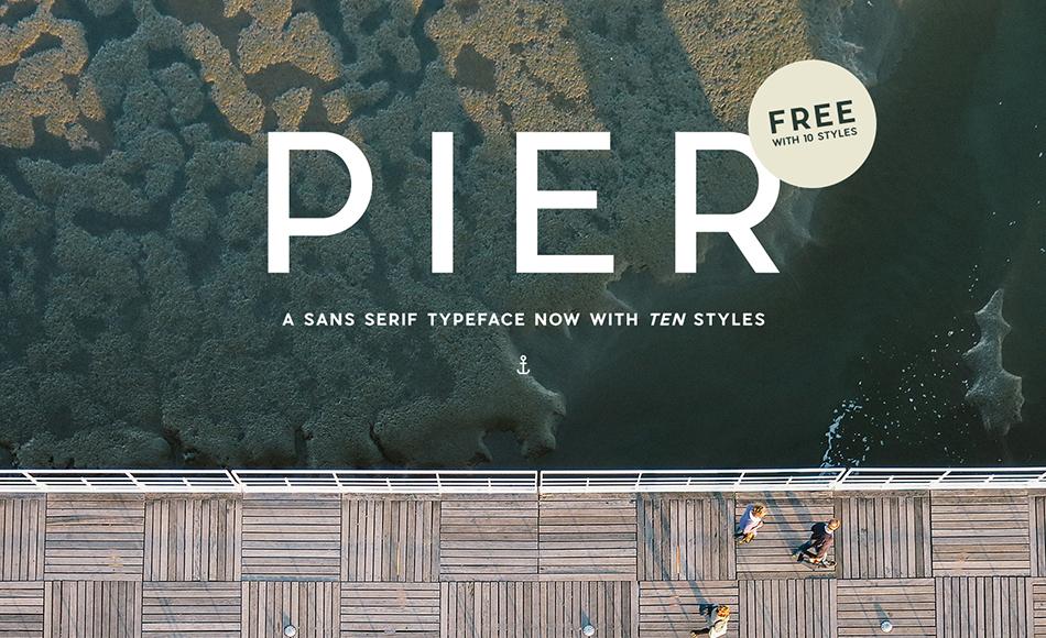 Pier free modern fonts