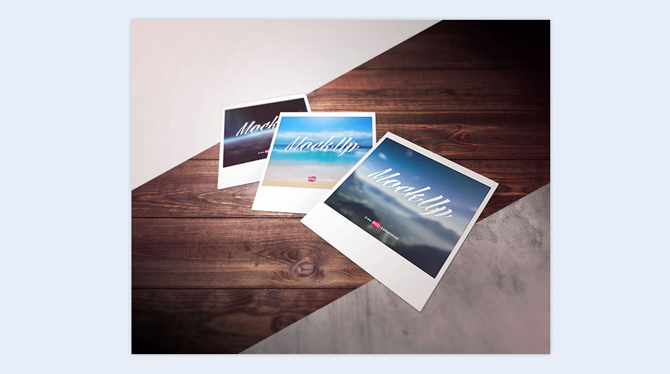 Polaroids creative presentation ideas