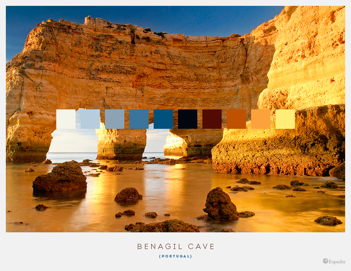 Portugal color palettes from beautiful landscapes