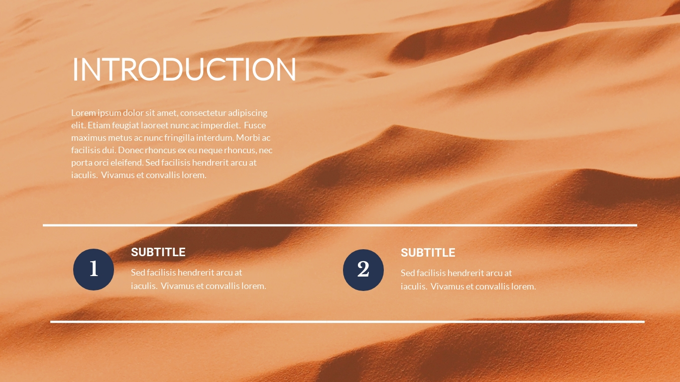Sand details presentation background template visme