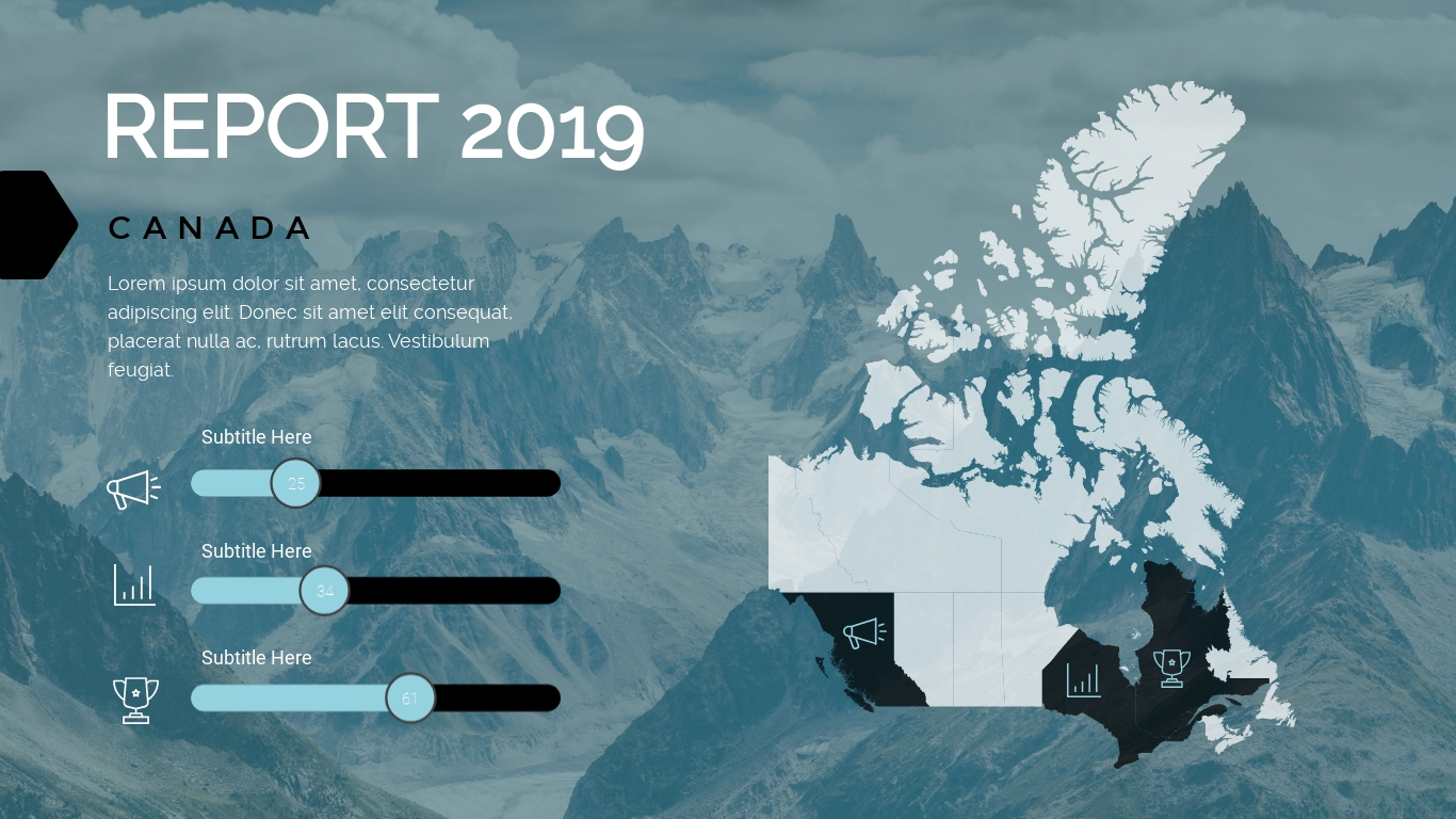Snowy Mountain Range presentation background template visme