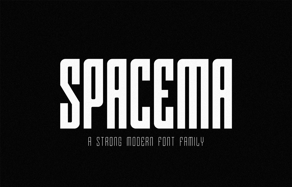 Spacema free modern fonts