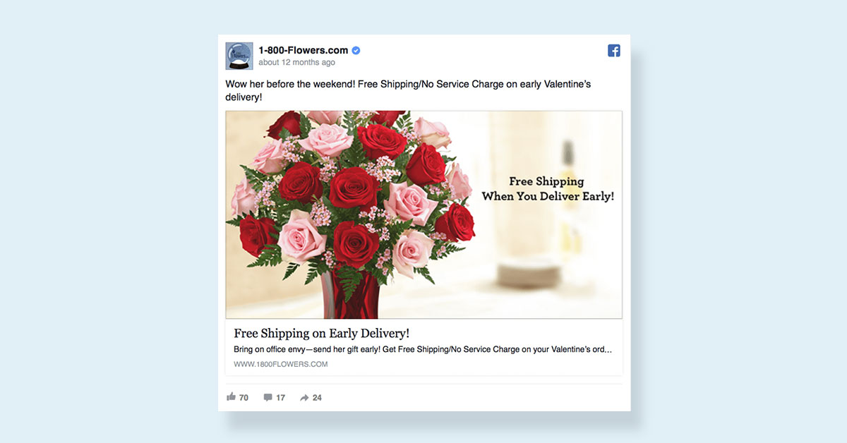 how to create a facebook ad visual images ad targeting flower shop facebook ad valentines day