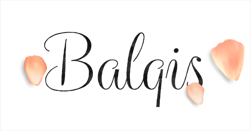 balqis pretty fonts