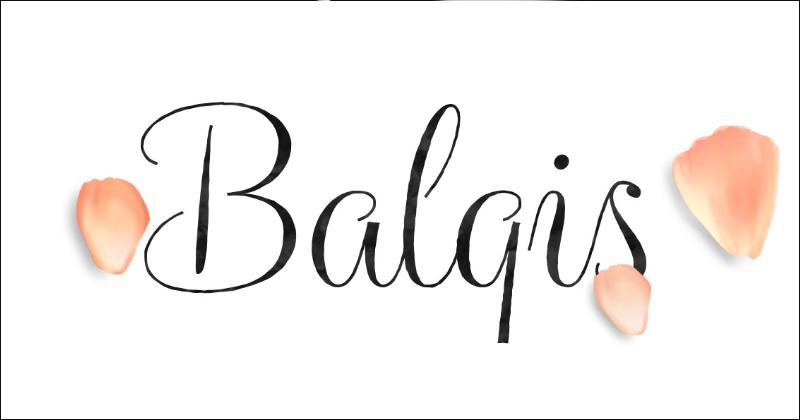 balqis pretty fonts