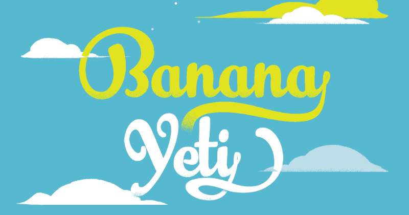 banana yeti pretty fonts