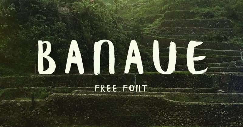 banaue pretty fonts