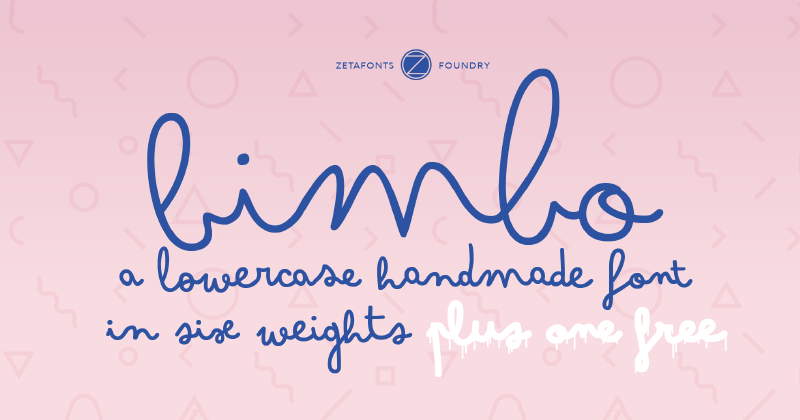 bimbo pretty fonts