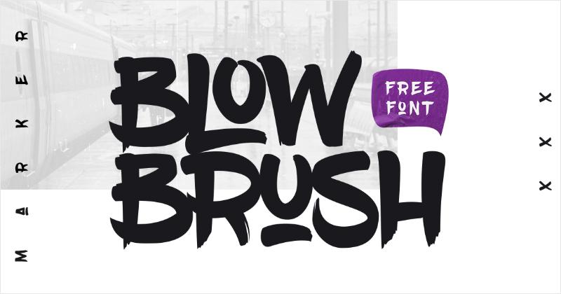 blow brush pretty fonts