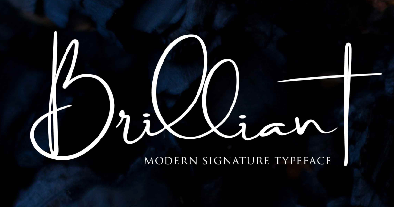 brilliant pretty fonts