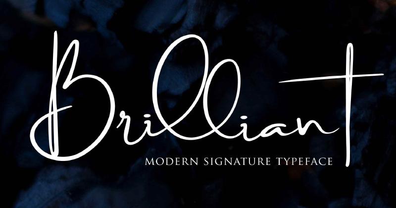 brilliant pretty fonts