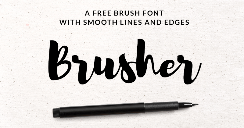 brusher pretty fonts