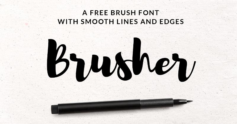 brusher pretty fonts
