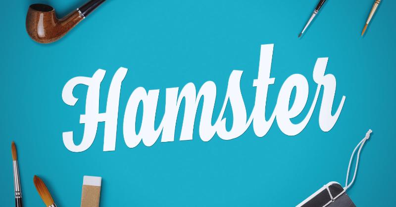 hamster pretty fonts