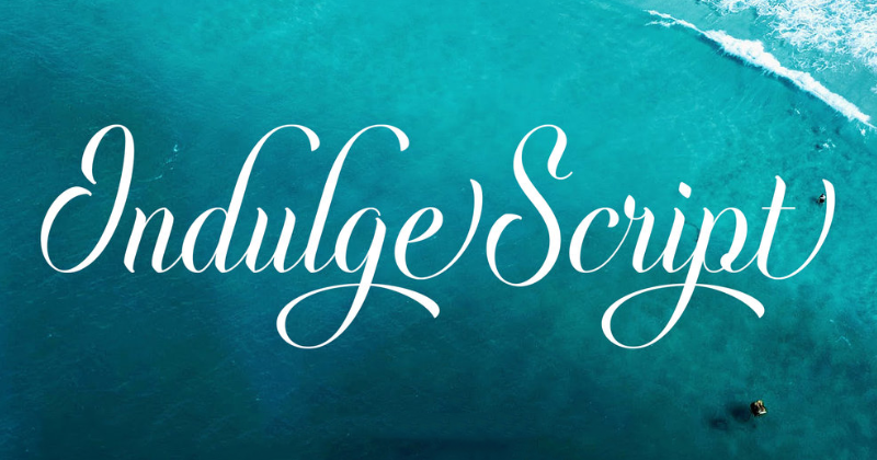 indulge script pretty fonts