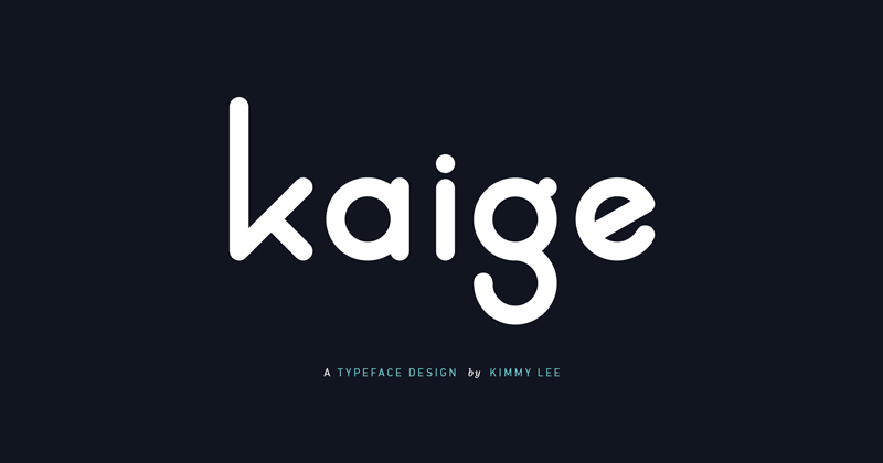 kaige pretty fonts