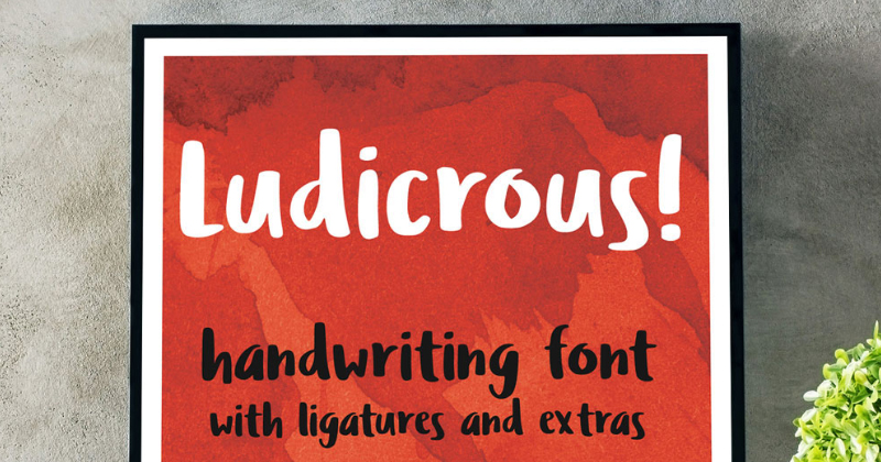 ludicrous pretty fonts