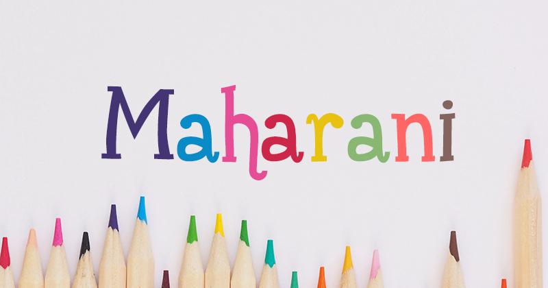 maharani pretty fonts