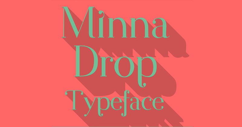 minna drop pretty fonts