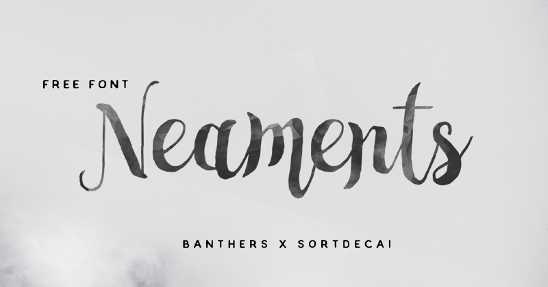 neaments pretty fonts