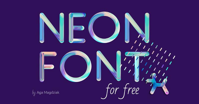 neon font pretty fonts