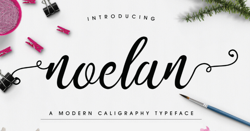 noelan pretty fonts