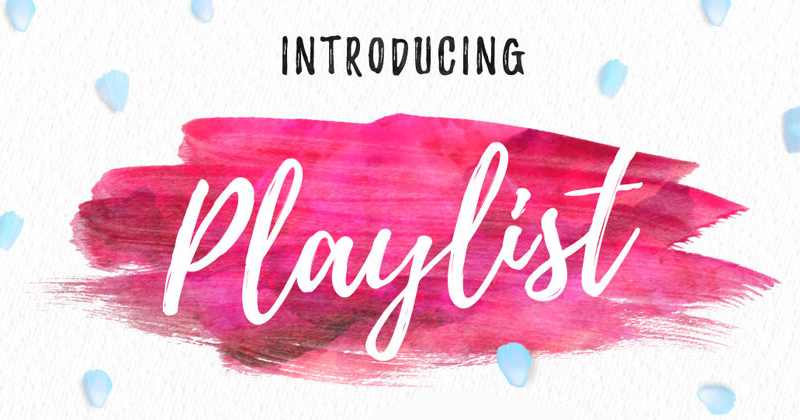 playlist pretty fonts