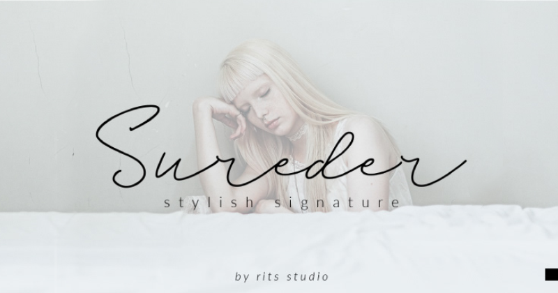 sureder pretty fonts