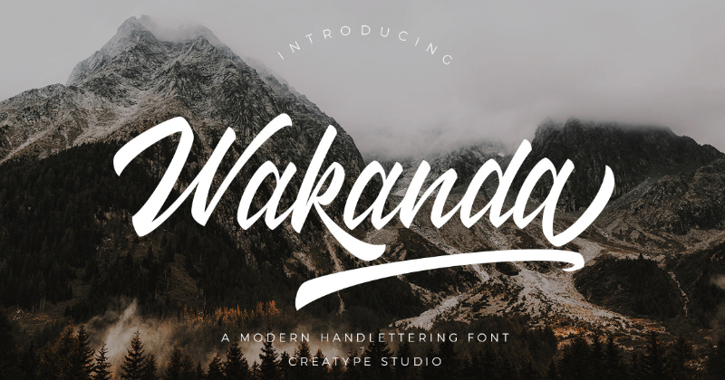 wakanda pretty fonts