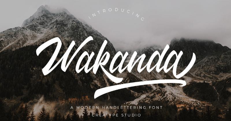 wakanda pretty fonts