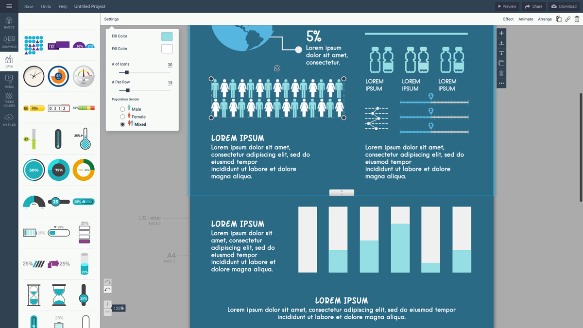 tools to create infographics - arrays visme