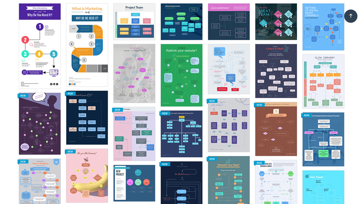 tools to create infographics - flowcharts visme