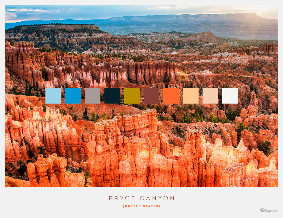 USA color palettes from beautiful landscapes