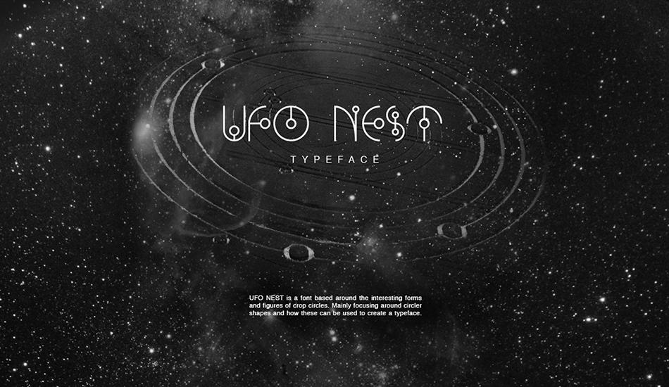Ufo-Nest free modern fonts
